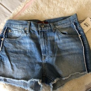 7 for all mankind jean shorts NWT